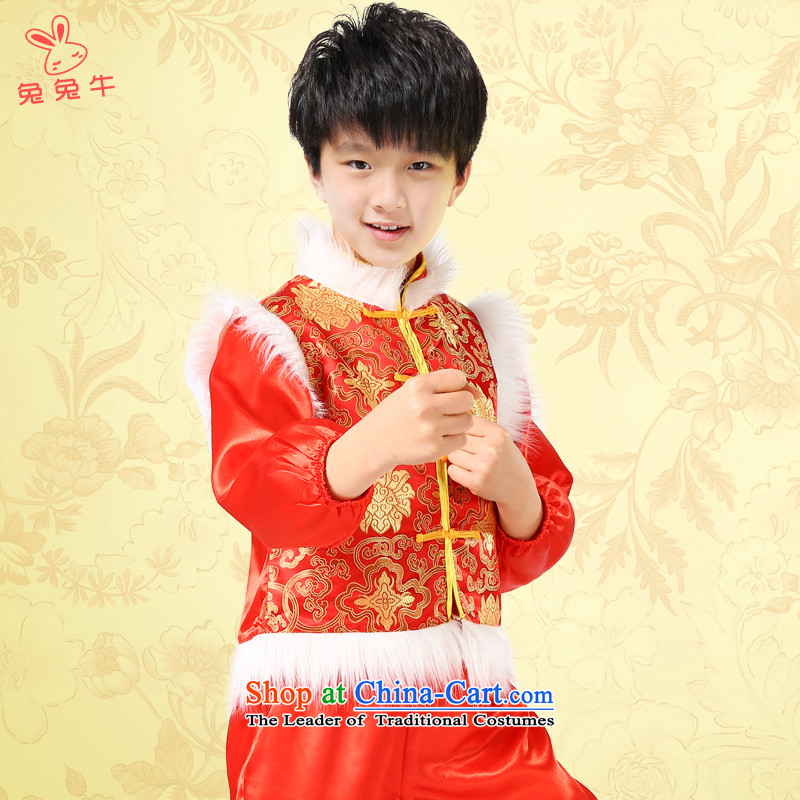New Year's children will show early childhood services nation macrame serving children Christmas clothing yangko girls red with traditional charge130