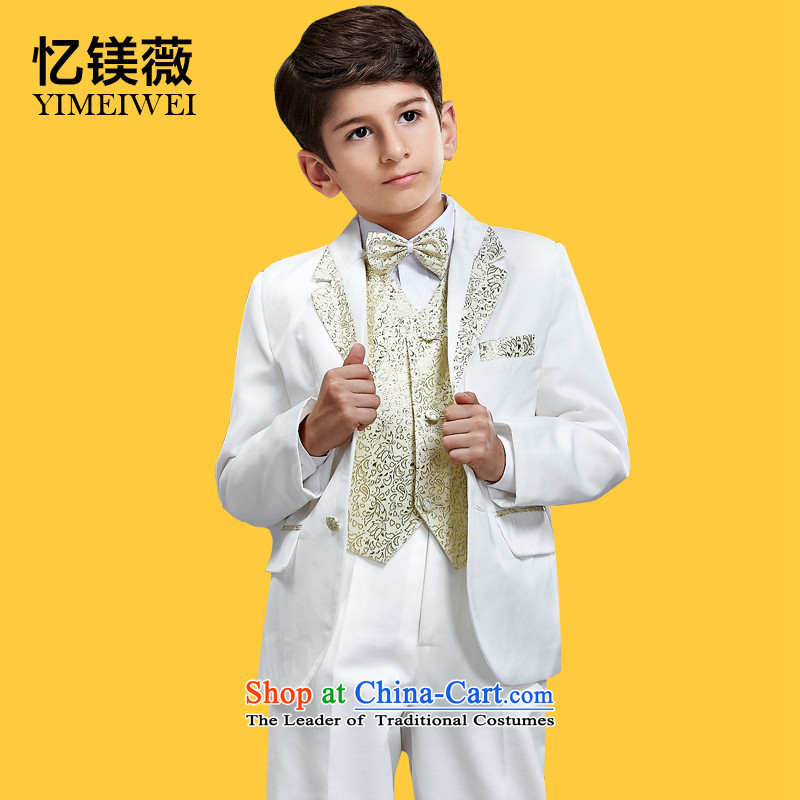 Recalling that disarmament Ms Audrey Eu suit dress boy children Korean children during the spring and autumn and winter of CUHK child Flower Girls small suits platinum suits kit is designed to be a genuine upscale platinum cabinet suits kit 90-105cm recom