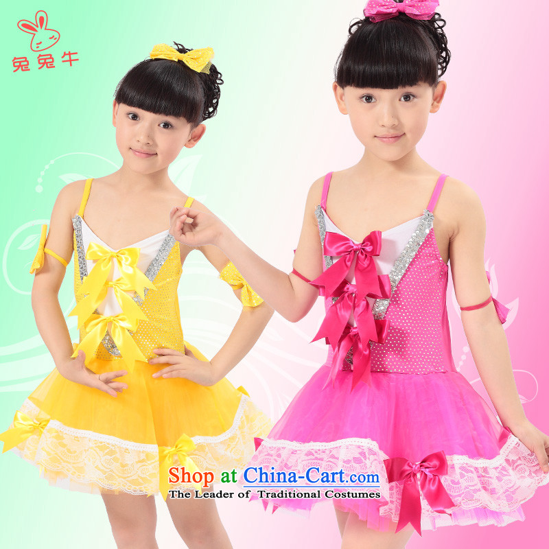 Rabbit and cow costumes children 61 children will girls dance performances skirt children wearing blue聽160