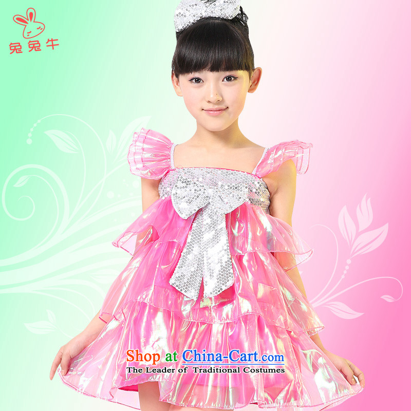 61. Children costumes girl child care modern dance on the stage with dance piece skirt show girls will serve Red�5.30