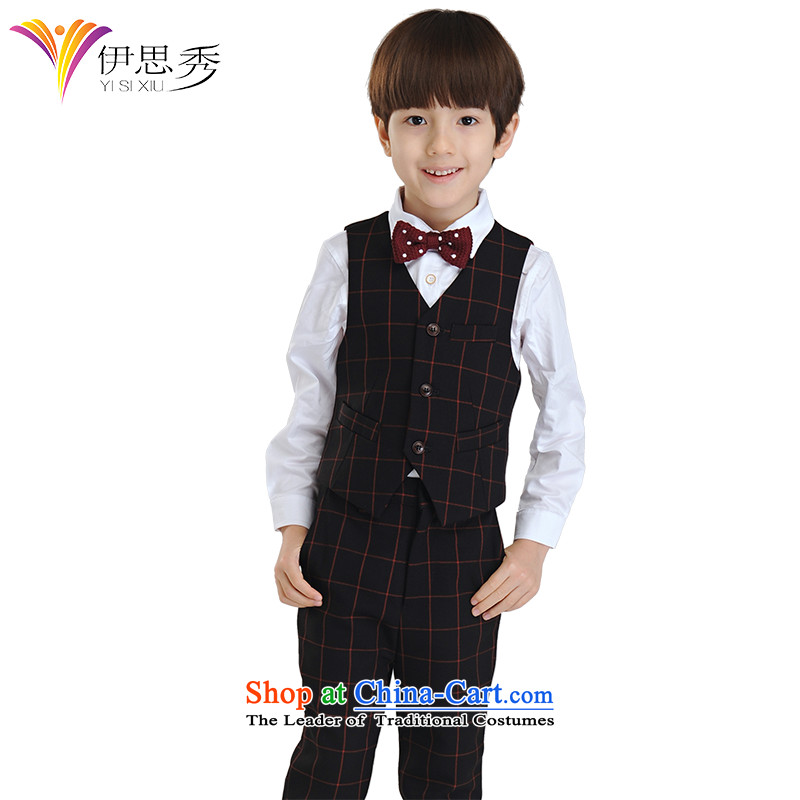 The league-soo children dress vest kit 4 piece flower girls under the auspices of the Korean version of the will of the Sau San boy dress suit, a spring and summer red grille, a kit of150