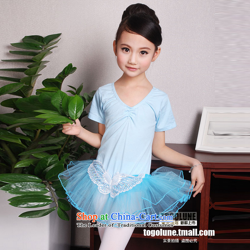 Children Dance services girls costumes dance costumes of early childhood ballet skirt children exercise clothing Blue 110