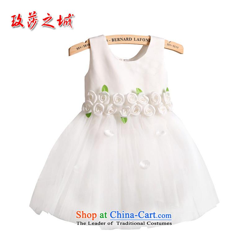 The shoulders, lovely princess cluster 61 activities show the mandatory dress girls Flower Girls serving fresh green leaf Flower Design Bow Tie white ribbons140