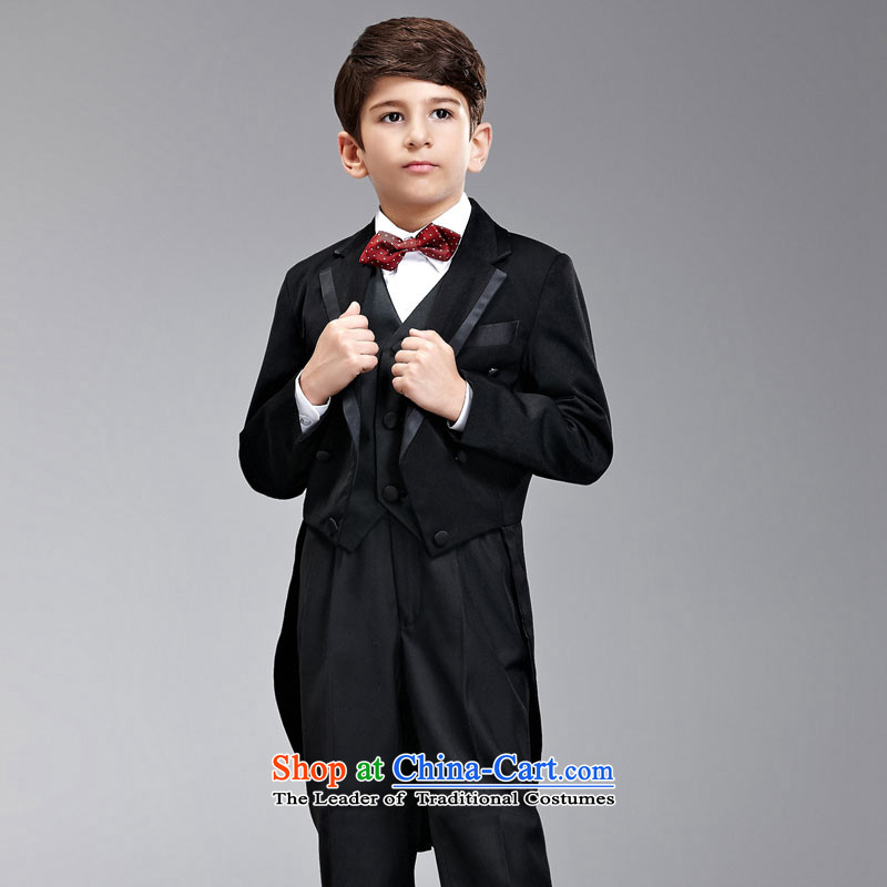 Recalling that disarmament Ms Audrey Eu children frock coat boy stage magician moderator piano performance up to suit students Flower Girls Boys dress male kit counters are up solid black frock coat 155-165cm recommendation 16 Code