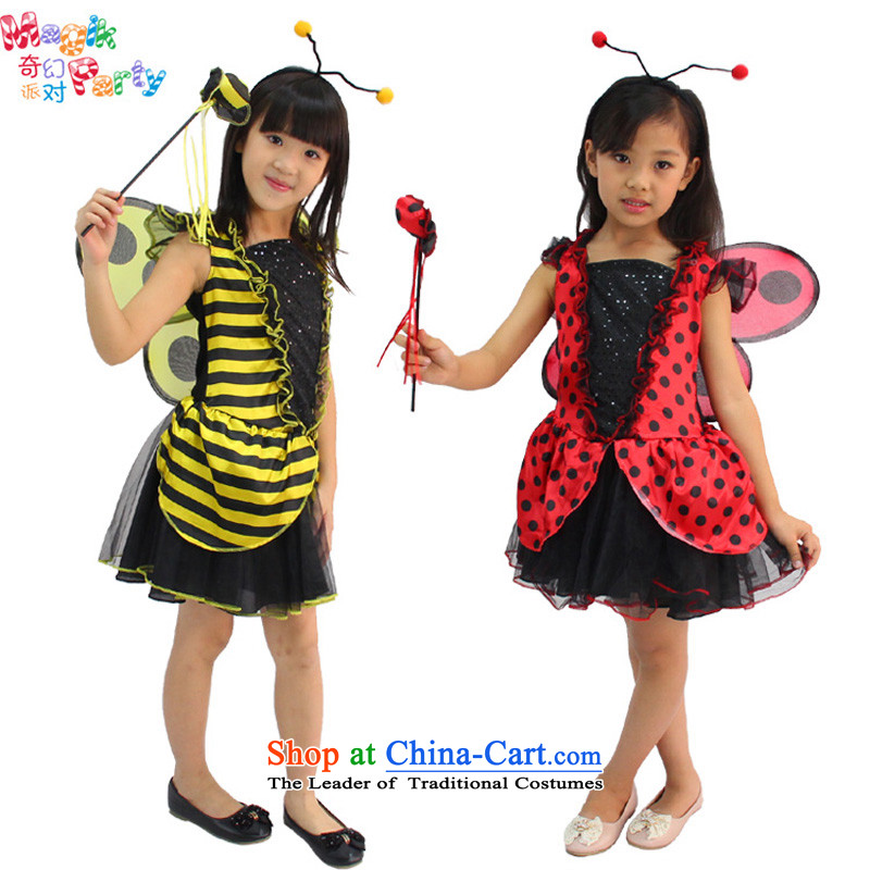 Fantasy party masquerade clothing animal into photography festival costumes dance skirt girls show apparel beetles, WASP) dresses beetles, 130cm(9-10 code)