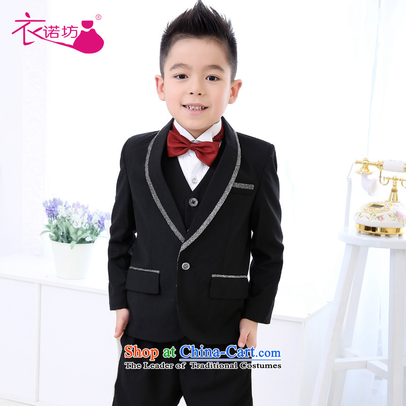 The workshop on yi Flower Girls dress boy children's kit kit Flower Girls suit Male dress show services winter wedding flower girls dress kit men and 6 piece black聽140