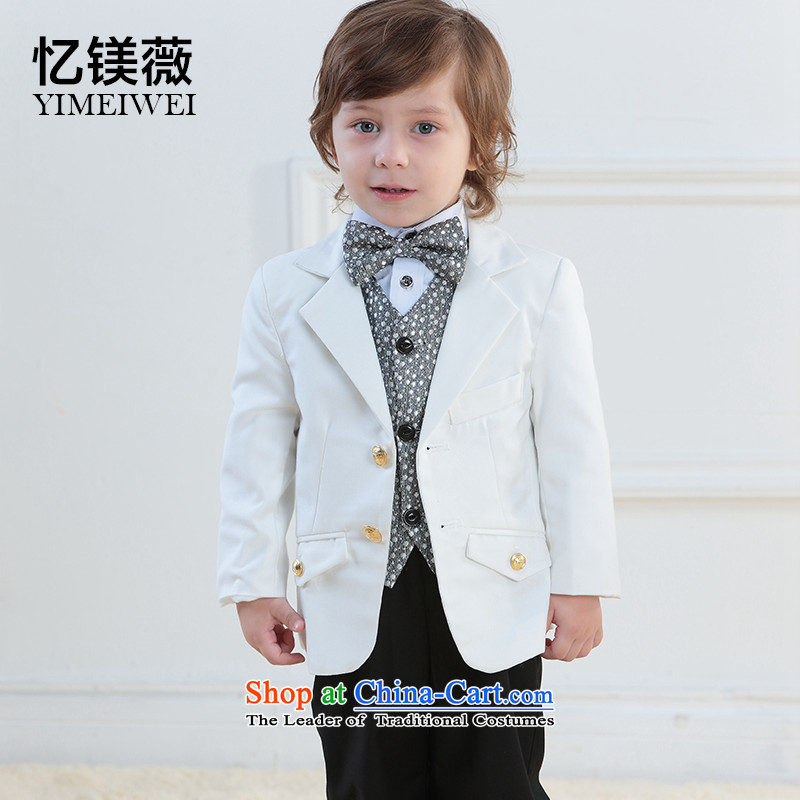 Recalling that the boy children Vicki disarmament small Moderator shows service wedding flower girls dress child care baby birthday party kit white suit145-155cm recommendation 14 Code