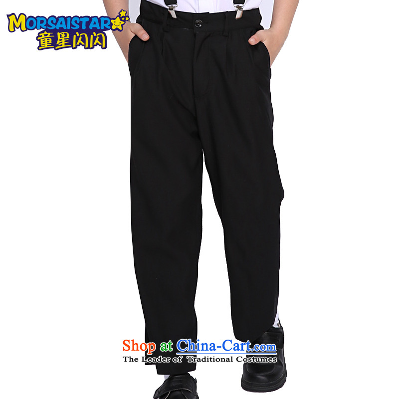 The sparkling waters of children's wear Tong Xing children small trousers boy pants a performance by students of black trousers pants boys shorts long black trousers 150