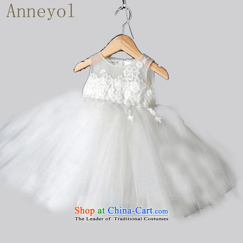 聽Children wedding princess anneyol skirt flower girl children dress suit your baby's age dress demo kit Flower Girls wedding white聽110 code proposed height 140-150cm