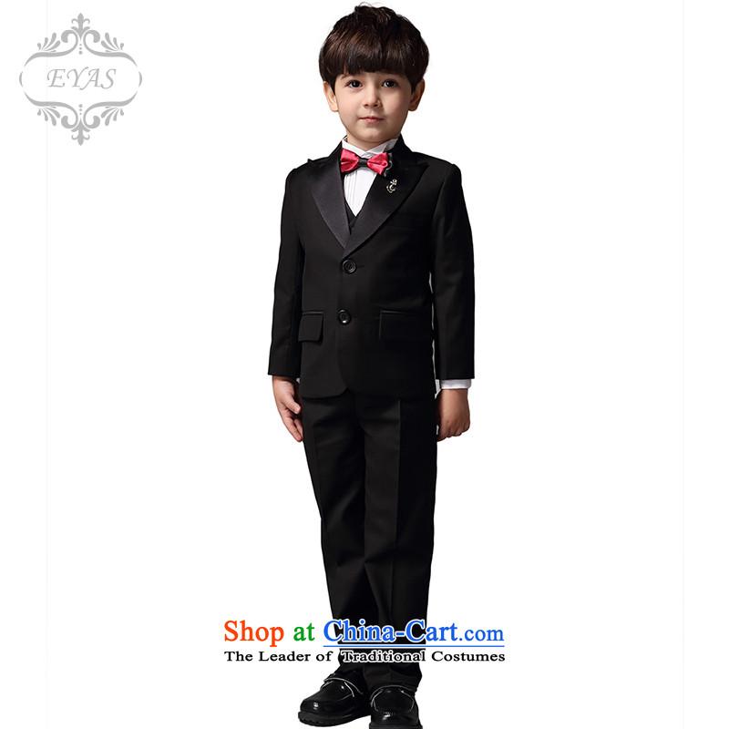 Eyas flower girl children sets new dress suit small boy piano black will suit Korean Sau San celebrate Children's Day service men and black�130 performances
