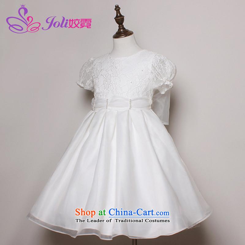 Each Princess skirt girls Ngai girl children's apparel will Flower Girls dress聽2015 Summer girls long-sleeved princess skirt and white short-sleeves聽100