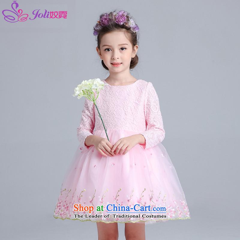 Each Princess skirt girls Ngai girl children's apparel will Flower Girls dress2015 Summer girls princess skirt pink embroidered positioning150