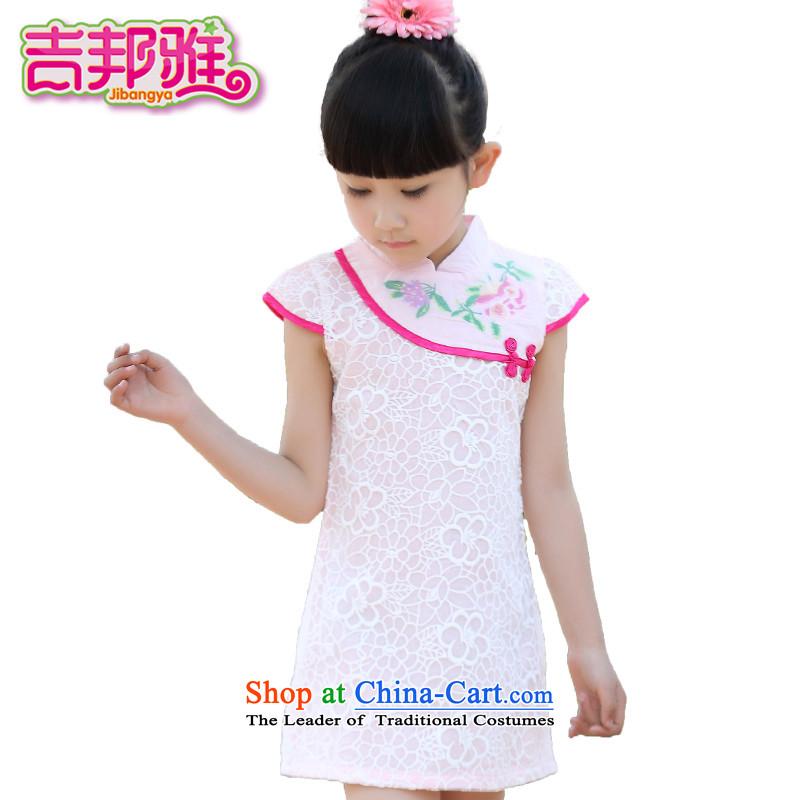 Yoshikuni ya 2015 Summer new women's CUHK child China wind will dress qipao gown skirt dance service embroidery GQ15022415 pink150