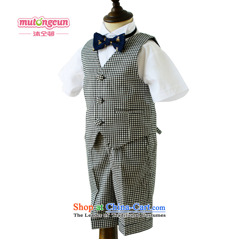Bathing in the Korean version of the staff of the estate of the children's wear dress shorts, a boy Kit Flower Girls dresses, will MJ06 100cm long-sleeved shirt