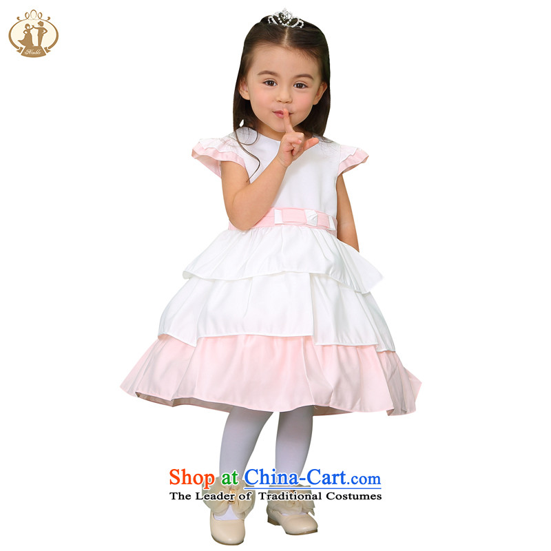 The spring and summer of 2015, Bao Tien children princess skirt wedding dresses Flower Girls dress skirt girls bon bon skirt child evening dresses girls show skirt m/Toner orange 90cm