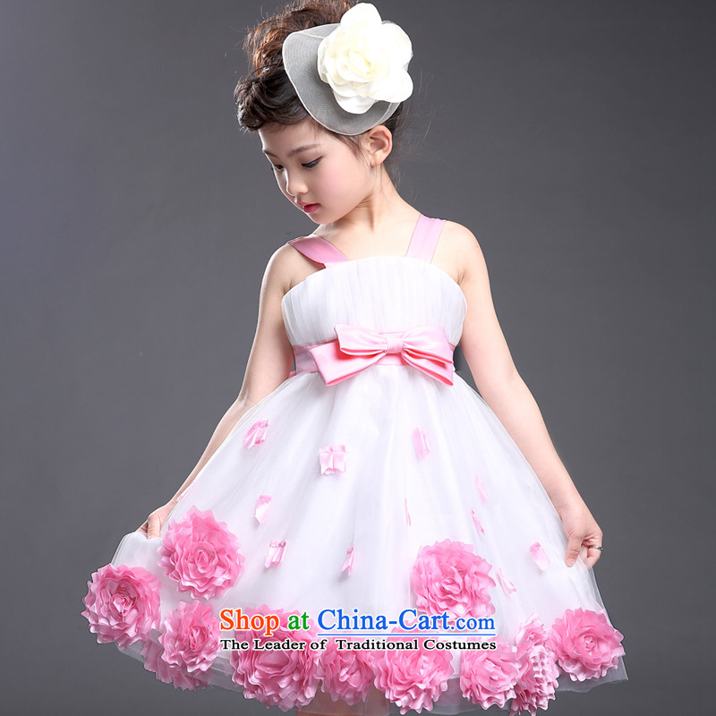 Children dresses Summer 2015 NEW CUHK female children's wear Korean embroidered dress princess performances dress skirts042 toner spent140