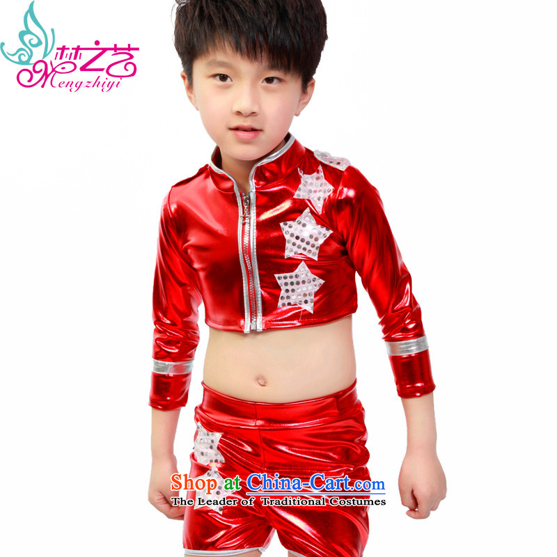 Early childhood dance performances to Sir clothing dancers performed services boy children street dance modern dance wearing red聽140