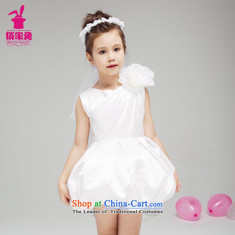For rabbits girls evening dresses bon bon skirt 61 will children wedding dress Flower Girls Dress Short skirts, Yi white聽110cm_105-115cm girls bon bon Skirt_