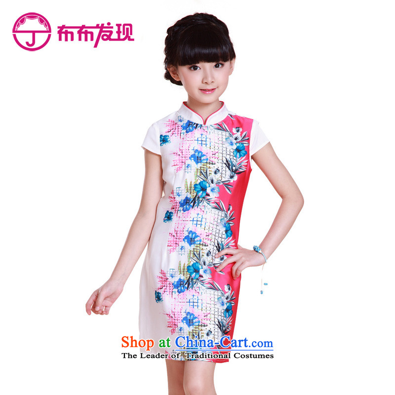 The Burkina found the children's wear parent-child with 2015 children original design of qipao cheongsam dress summer girls mother women rose聽170