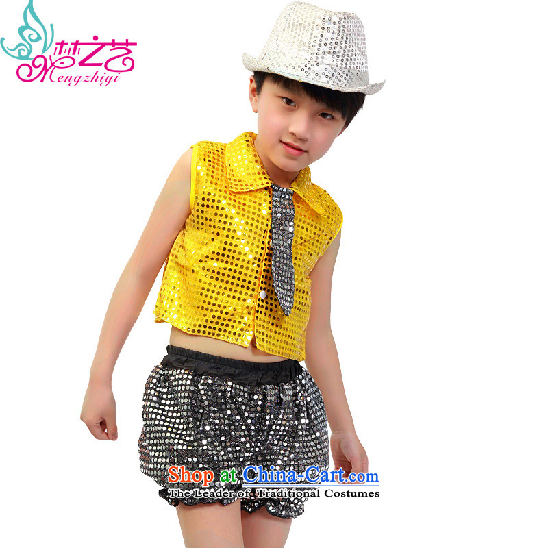 The dream of children arts jazz dance 610 children on film costumes girls celebrate Children's Day street dance wearing boy child care services 0249 Yellow聽110 Dance