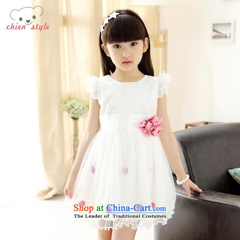 Millions of Cubs girls skirt for summer 2015 new Korean dress princess children skirts short-sleeved bon bon skirt around 160cm tall white recommendations