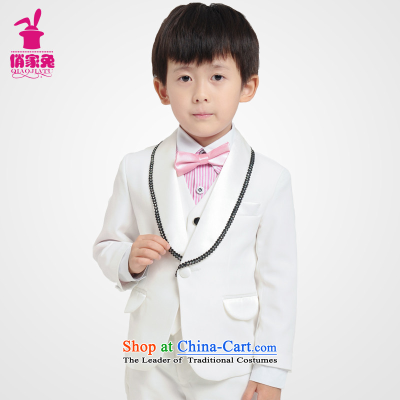 For rabbits b suits vest kit spring white children 61 children under the auspices of performances dress suit boy suit costumes and five white 140cm(135-145cm)