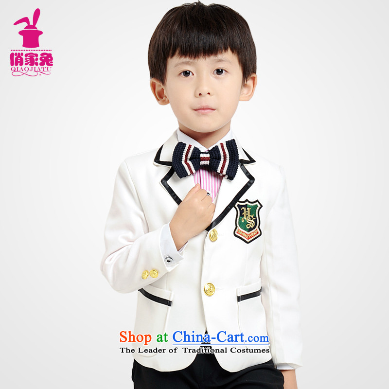 For rabbits new b suits Korea packaged children small business suit Preppy Small Spring Blossoms' Dress Suit piano performances suits聽 140cm_135-145cm_ White