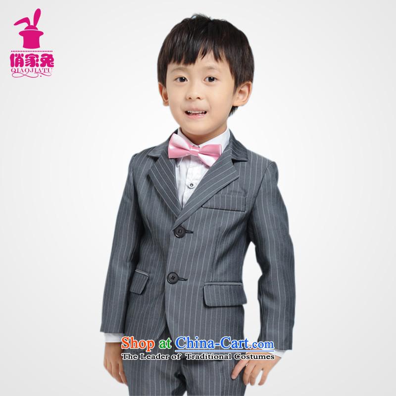 For rabbits Korean Boy suits high-end child 61 children performances dress dress suit with Prince Flower Girls children's wear boys picture color140cm_135-145cm_