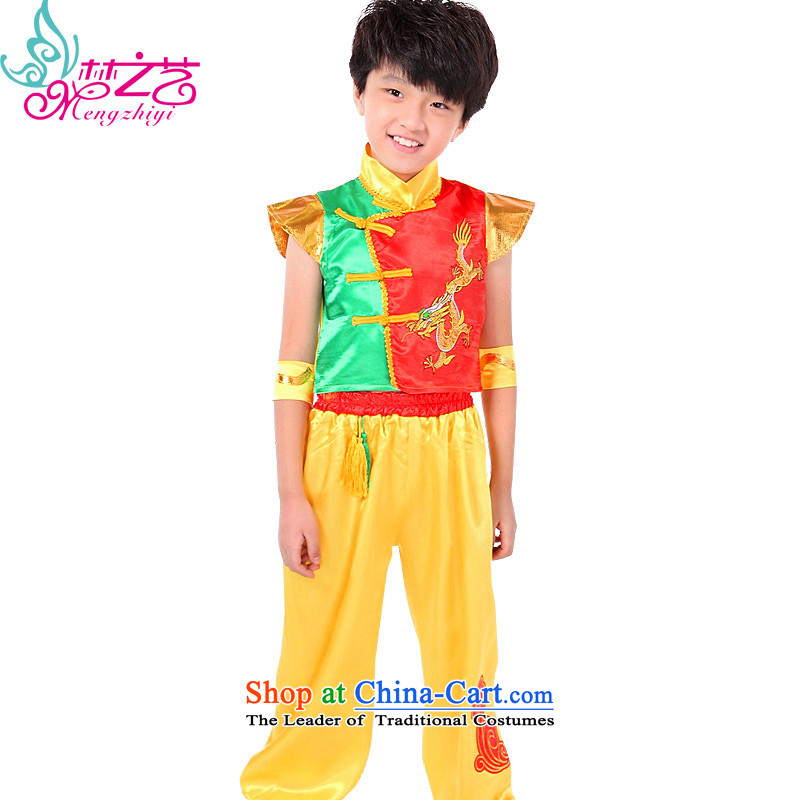 The Dream of the Child national costumes female arts child care services for children of ethnic minorities at national air services for children with the dprk show apparel MZY-0287 Wong trousers Red 160