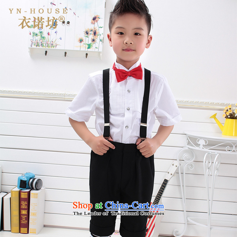 The Workshop 2015 Children Yi Dress Short-sleeved shirt and Summer Package Flower Girls dress kit boy children choir performances 61 dress uniform short-sleeved + shorts + strap + red wine 150cm