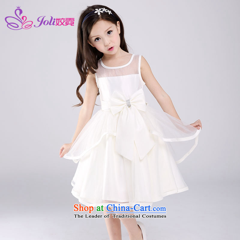 Each child dress skirt Princess Ngai skirt girls bon bon skirt short, lace dress children wedding flower girls children will dress girls dress White聽120