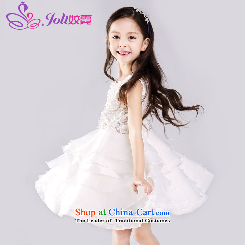 Each child dress flower girl Ngai dress children wedding dress Princess Margaret Flower Girls wedding dresses bon bon skirts birthday will White 130