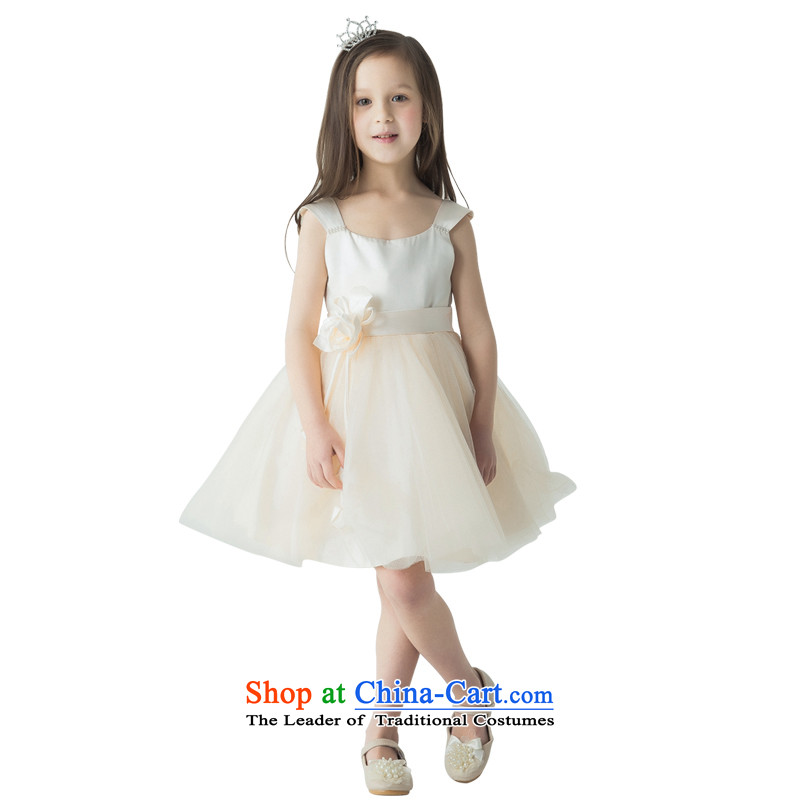 Jasmine 2015 New Po Children dress princess skirt girls piano performance services will fall of the persons chairing the children's wear dresses champagne color 150 - chest 76 Custom)