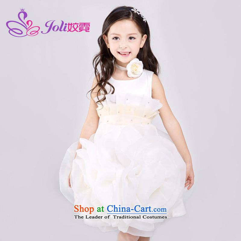 Each Princess skirt girls Ngai dress wedding dress princess skirt dress skirts children dresses Summer 2015 new children's wear white聽110