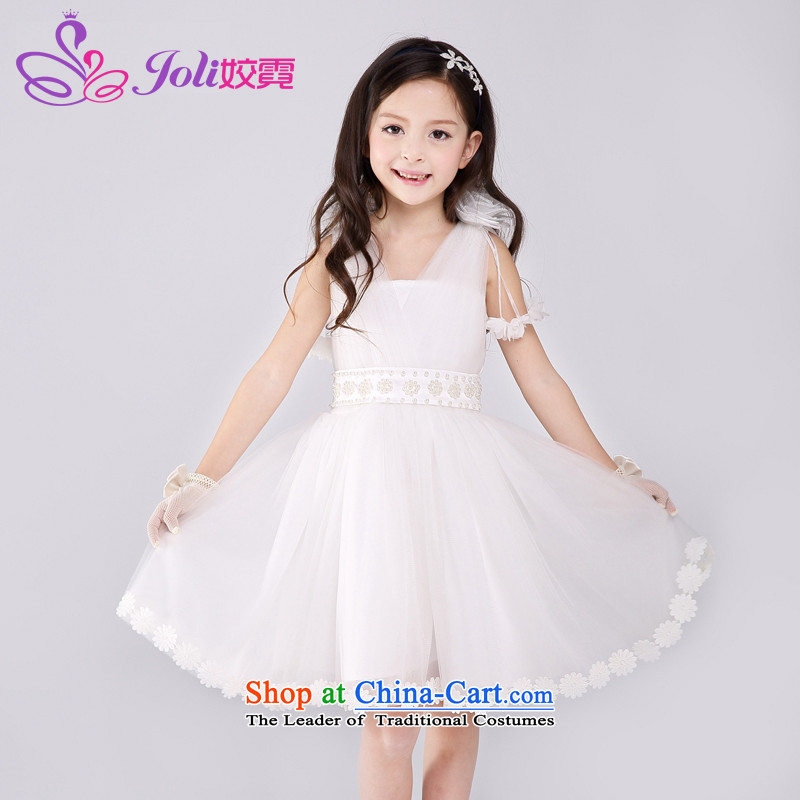 Each Princess skirt girls Ngai dress wedding dress princess skirt dress skirts children dresses Summer 2015 new children's wear 61 Will White聽160