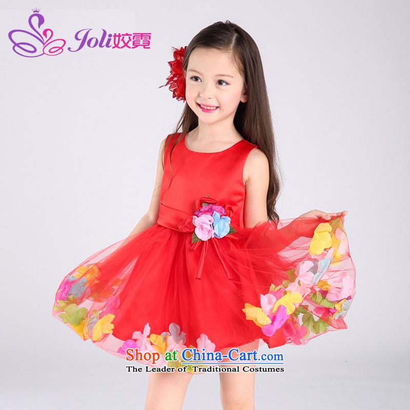 Each Ngai girls for summer 2015 new child dresses princess skirt vest dress bon bon skirts summer 61 will dress Red160