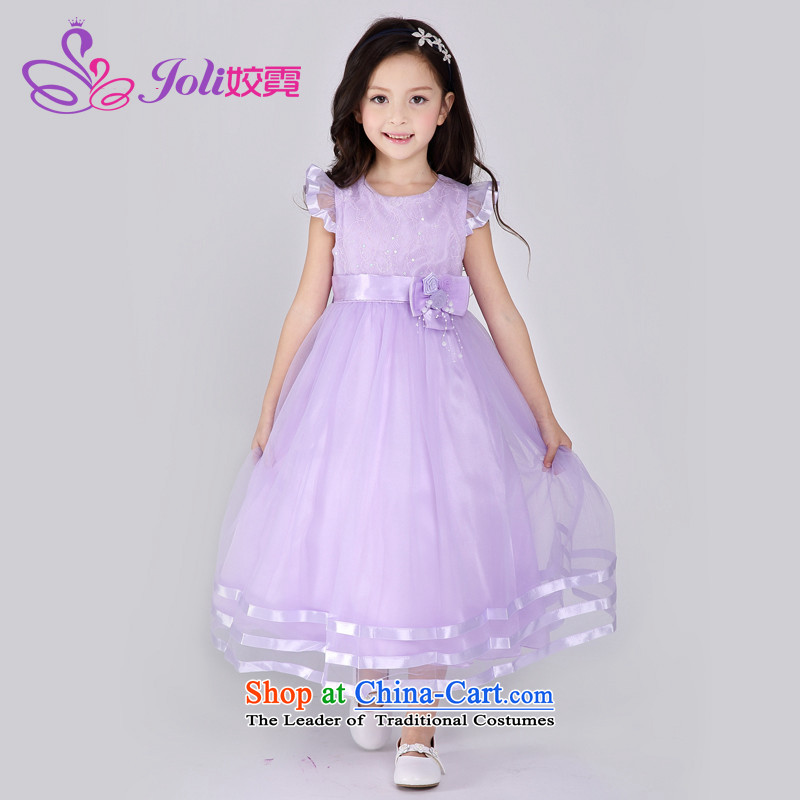 Each Princess skirt girls Ngai dress suits skirts Summer Children dress skirt wedding dress princess skirt Light Violet?100