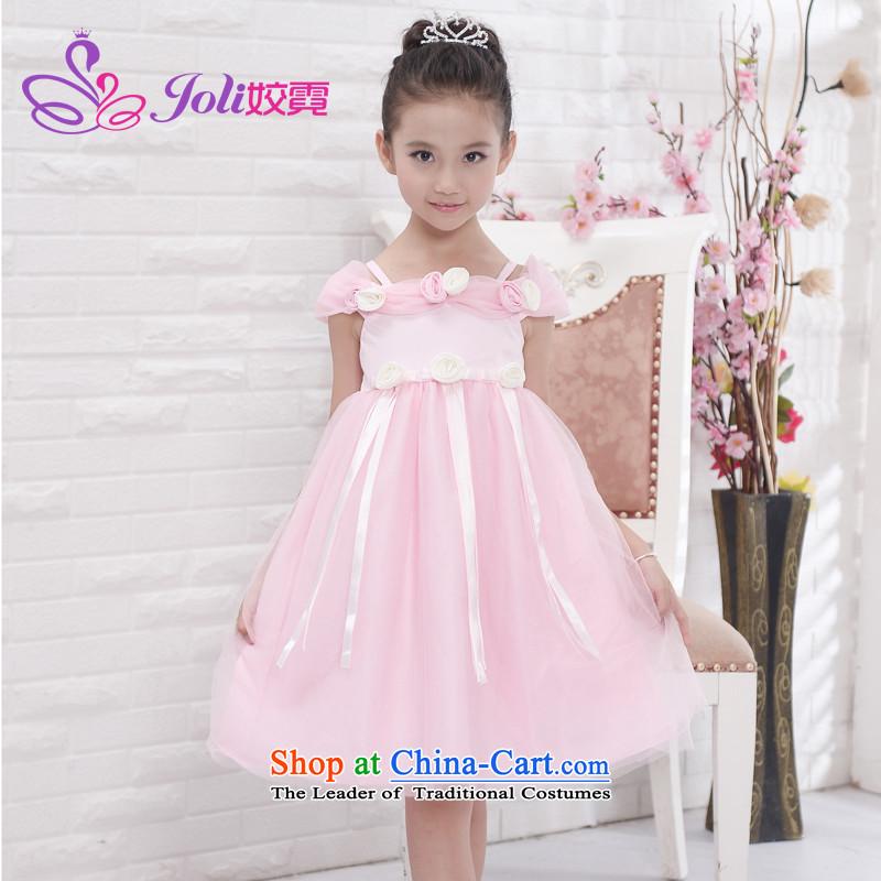 Each Princess skirt girls Ngai girl children's apparel will Flower Girls dress聽2015 Summer girls princess skirt pink聽150