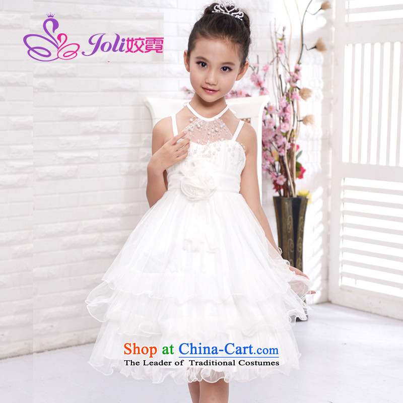 Each Princess skirt girls Ngai girl children's apparel will Flower Girls dress 2015 Summer girls princess skirt White 160