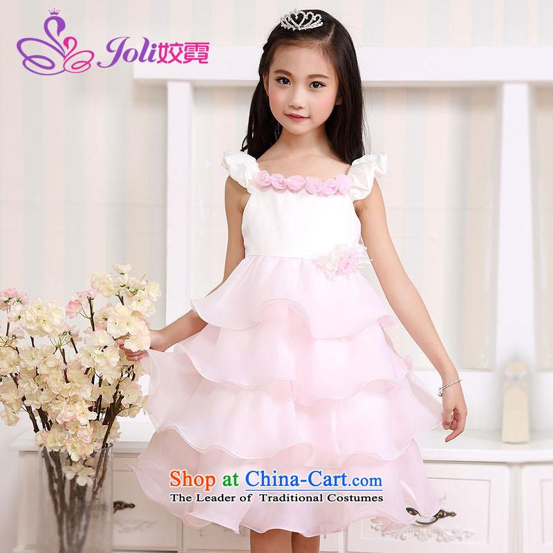 Each Princess skirt girls Ngai girl children's apparel will Flower Girls dress聽2015 Summer girls princess skirt pink聽160