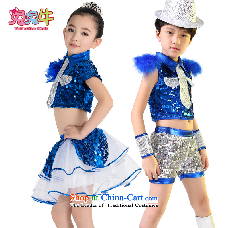 61. Children will jazz dance jazz dance serving boy street dance show dance performances to serve children wearing girls blue women140