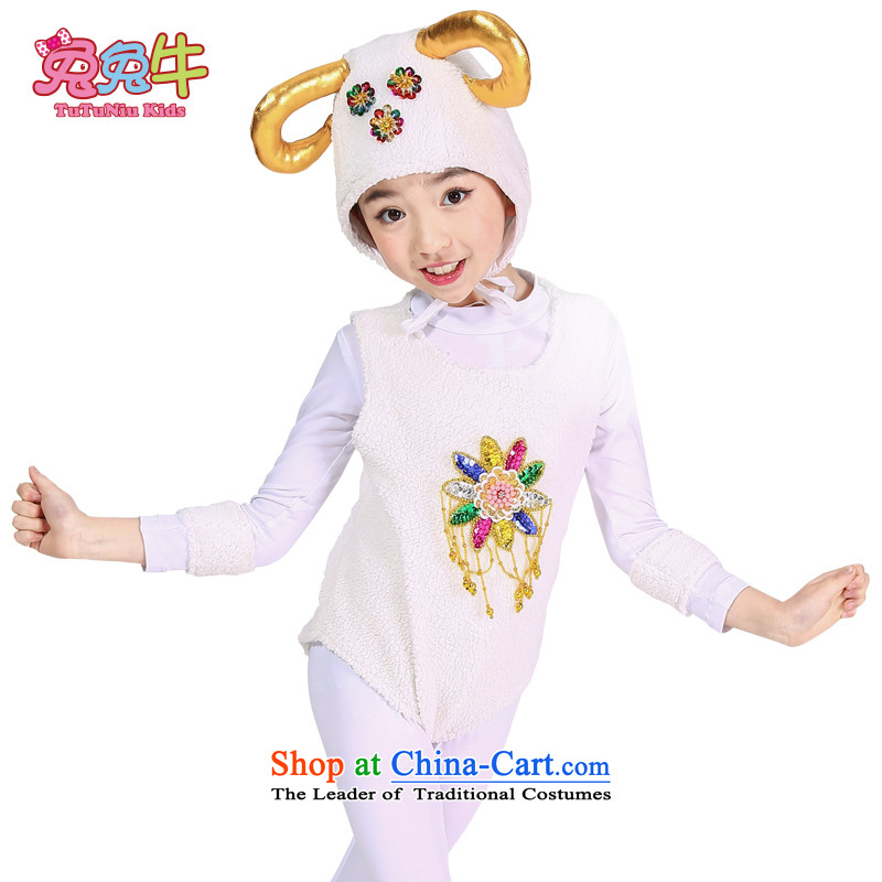 The new 61 children will kindergartens suede cartoon show services early childhood sheep animal costumes and White 130