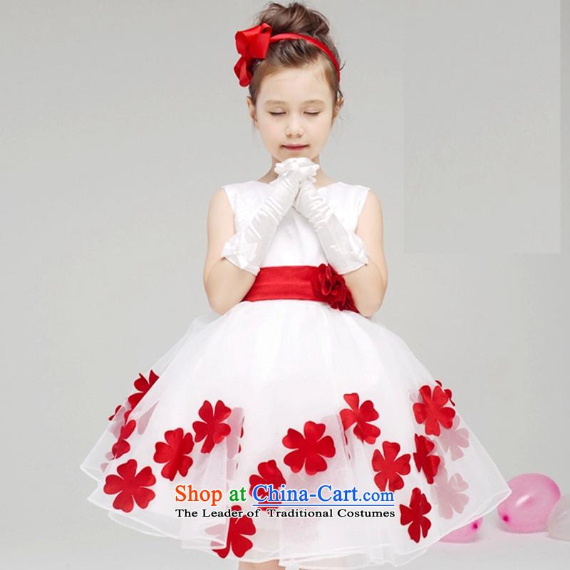 2015 new wedding flower girls dress children female wedding dress princess girls will dress skirt dress summer 61 will dress White140