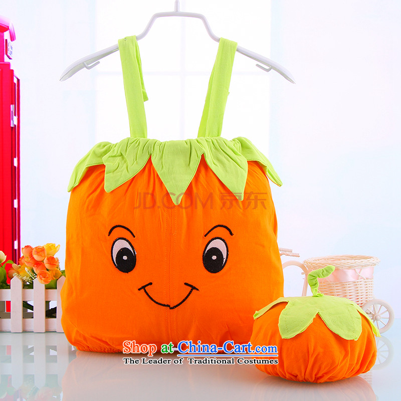 Summer baby styling Doha Yi cute style cartoon-yi-persimmons children climb short-Pure Cotton he yi 3242B persimmons Yi 90