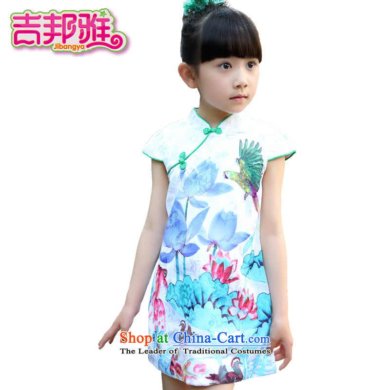 Yoshikuni ya 2015 Summer new women's CUHK Tang dynasty child of ethnic Chinese Folk Wind dress skirt cheongsam dress GQ15023759 will spend 140 green