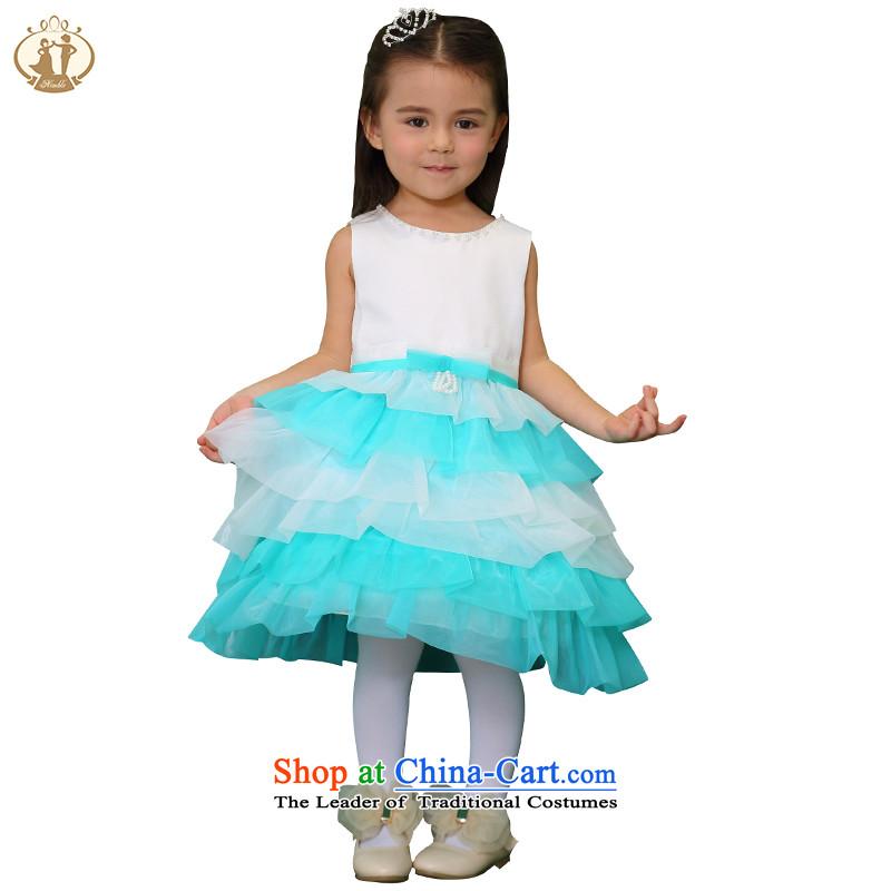 Tien Po girls camouflage uniforms 61 children performances princess skirt costumes girls dress dresses Flower Girls wedding dress bon bon m/better Red90cm
