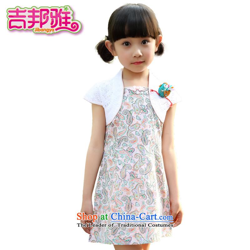 Yoshikuni ya 2015 Summer new women's children's wear qipao CUHK China wind dance performances to dress retro embroidery dresses GQ15023767 pink140