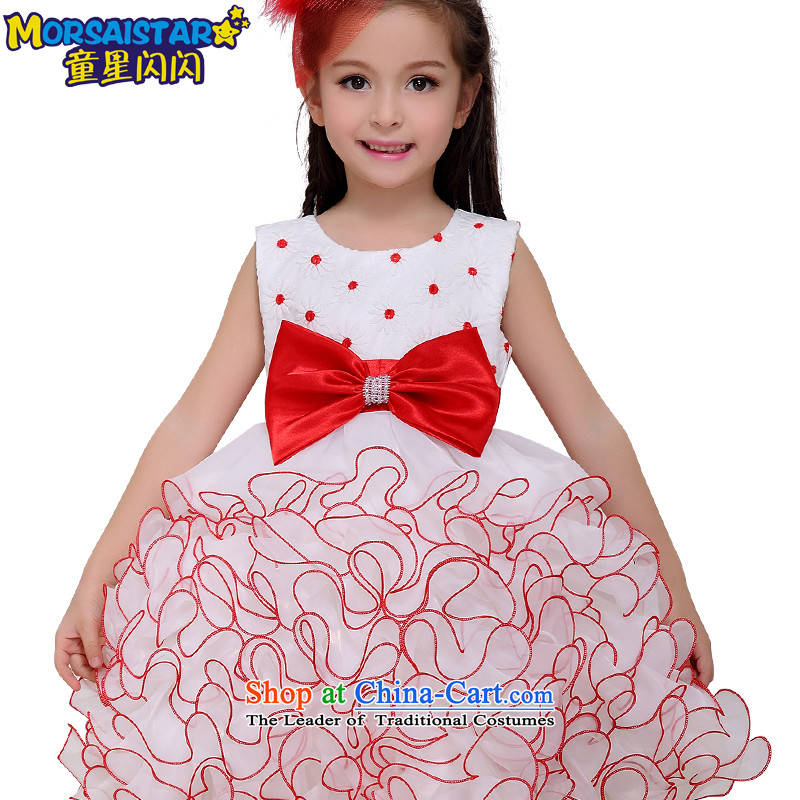 Child Star Shining skirts princess dress children girls show summer evening dresses Flower Girls wedding dress dances bon bon services colorful shoulders elegant dress skirt 160