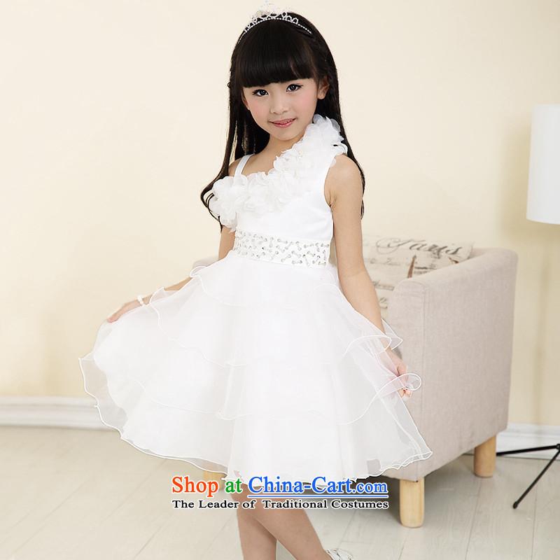 Each Princess skirt girls Ngai girl children's apparel will Flower Girls dress2015 Summer girls short-sleeved whiteevery 110 Princess skirt ngai (joli) , , , shopping on the Internet