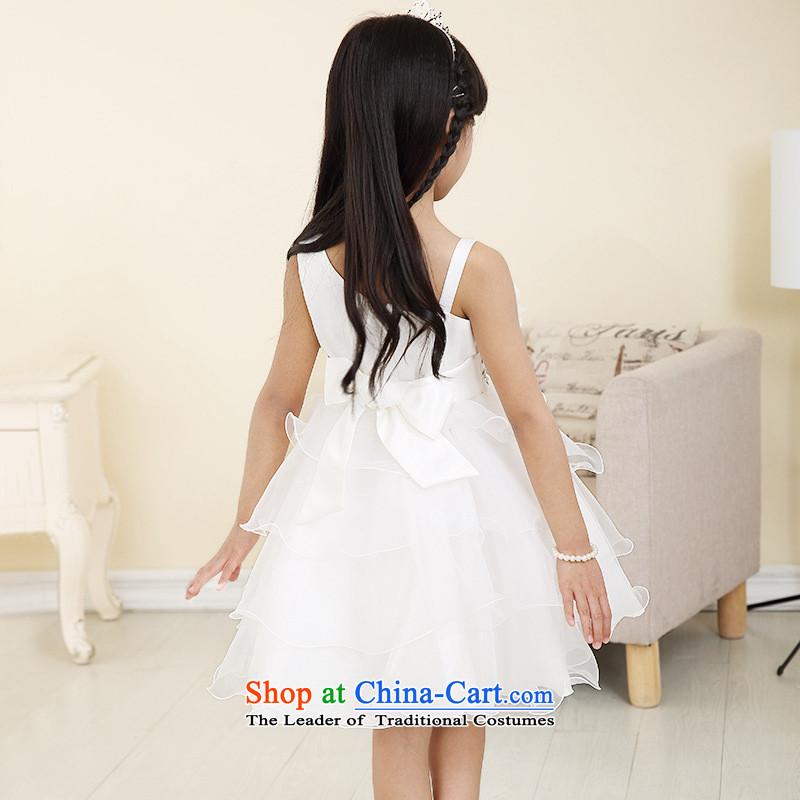 Each Princess skirt girls Ngai girl children's apparel will Flower Girls dress聽2015 Summer girls short-sleeved white聽every 110 Princess skirt ngai (joli) , , , shopping on the Internet